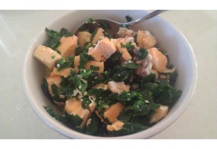 Salmon spinach Bowl
