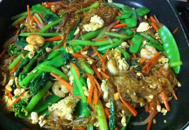Asian Green Stir-Fry Noodles