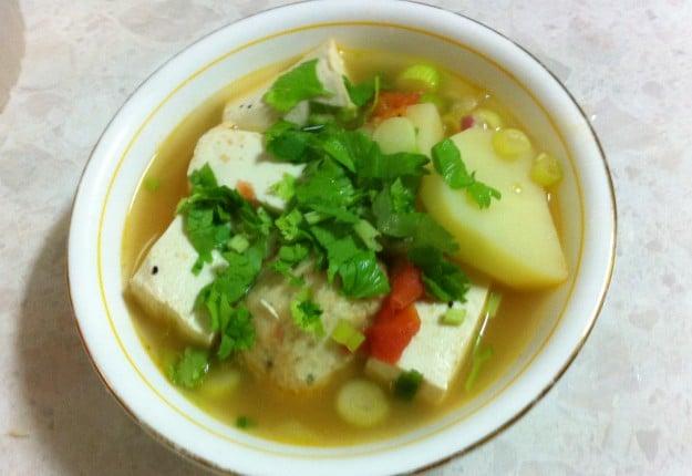 Tofu and Potato Soup