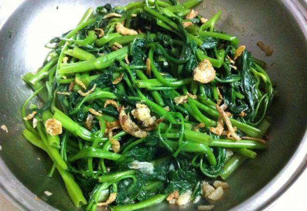 Stir-fry Spinach Water