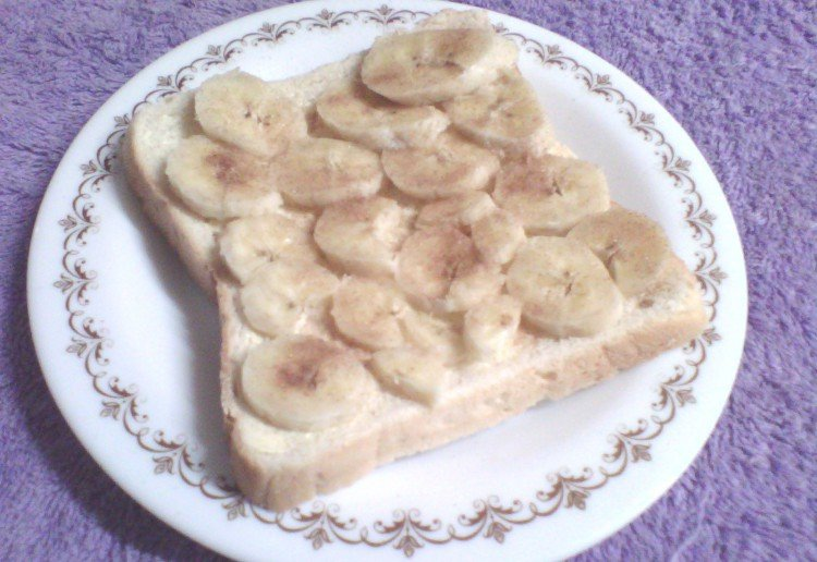banana, cinnimon and peanutbutter bread.