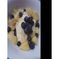 mango and blueberry icecream with a twist