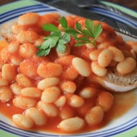 Yummy homemade baked beans