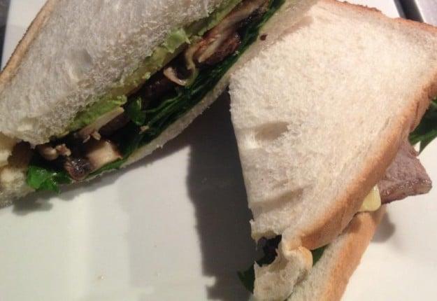 Green Steak Sandwich