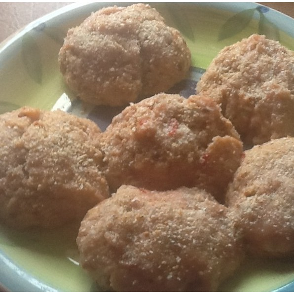 Home made chicken rissoles