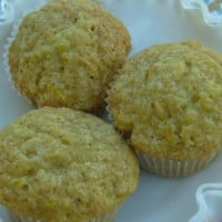 Zucchini Muffins With Lemon