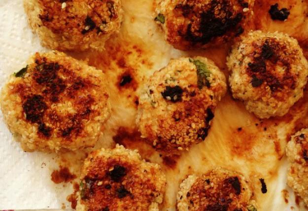 Sesame chicken patties