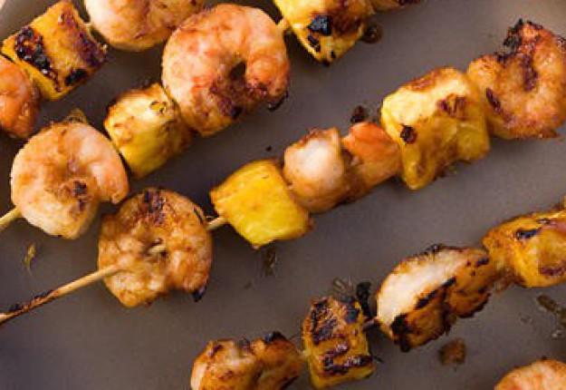 BBQ Pineapple Prawns skewers
