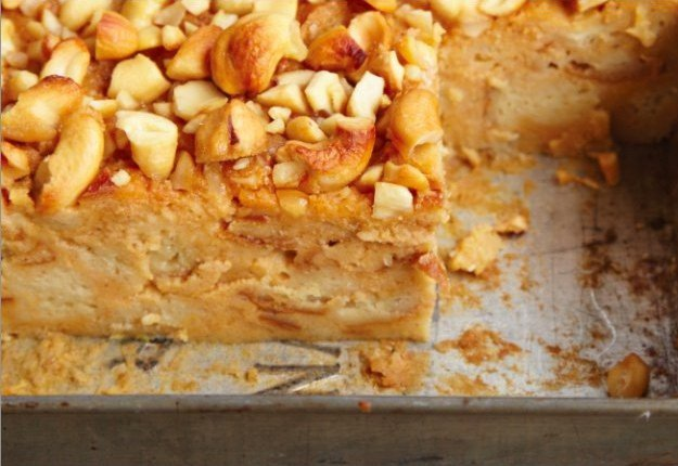 Sweet Potato Bread Pudding With Cashews