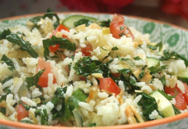 Kale rice salad