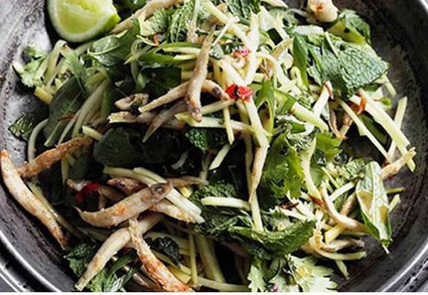 Chilli Whitebait Mango Salad