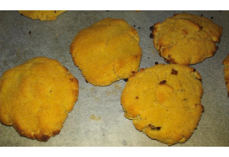 Coconut and pumpkin cookies