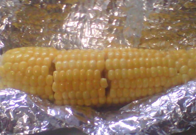 juicy corn on the cob.