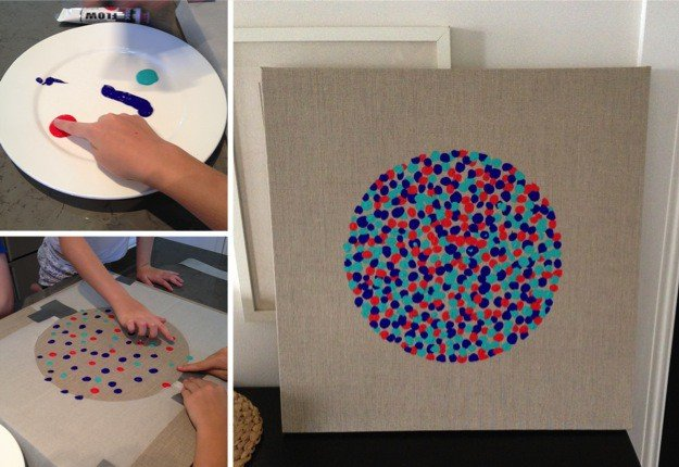 Stylish DIY fingerprint painting