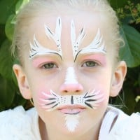 Easter bunny face paint tutorial