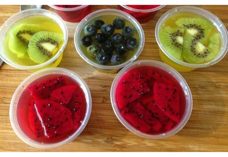 Fresh fruit jellies