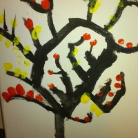 Finger print painting