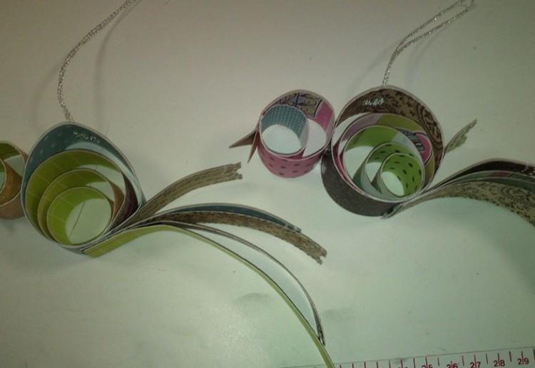 Paper bird decorations