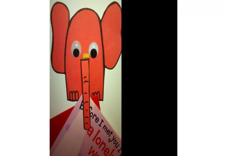Elephant peg magnet