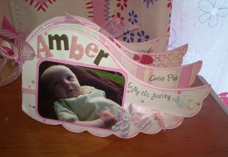 Cute little baby scrap book