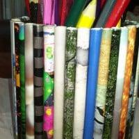 Magazine pencil tin