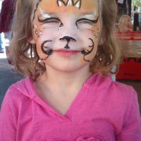 Simple lion face paint
