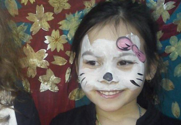Cute cat face paint