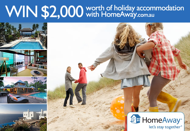 WIN A family holiday with HomeAway.com.au