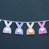 Fluffy Easter bunny garland