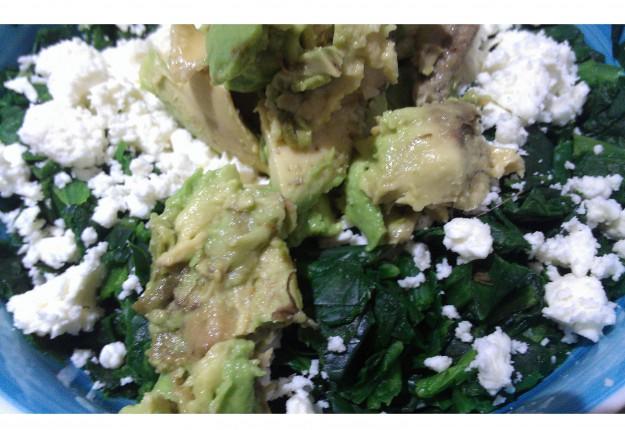 Spinach feta salad for dummies