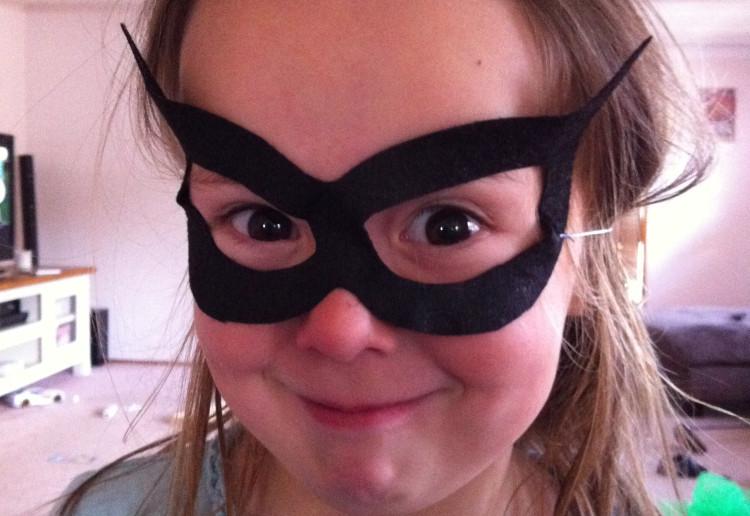 Batman/Catwoman Felt Mask