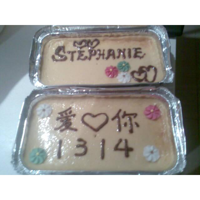 Valentine baked cheesecake