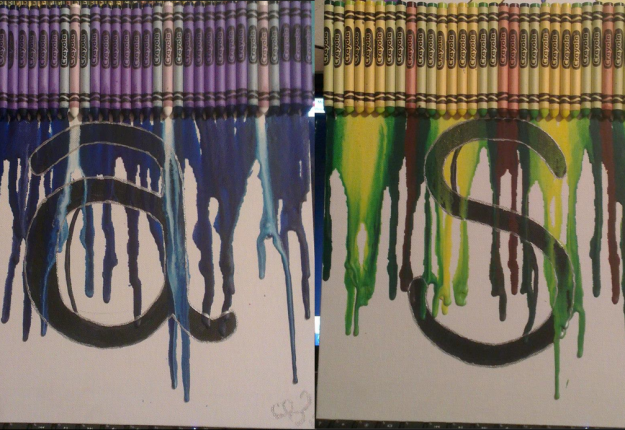 Melted Crayon Monograms