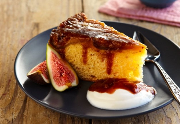 Upside Down Fig Cake: Rich, ripe flavours