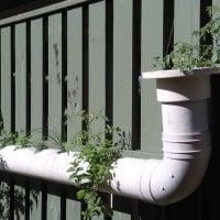 Hanging pipe garden