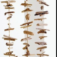 Hanging driftwood mobile