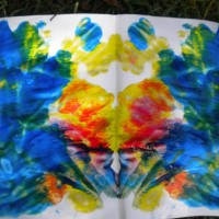 Folded paint blots