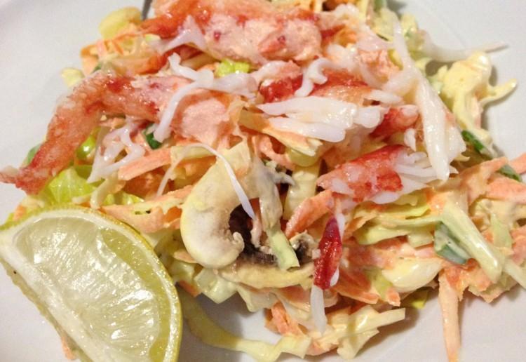 King crab coleslaw