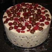 Raspberry Malteser Ice Cream Cake