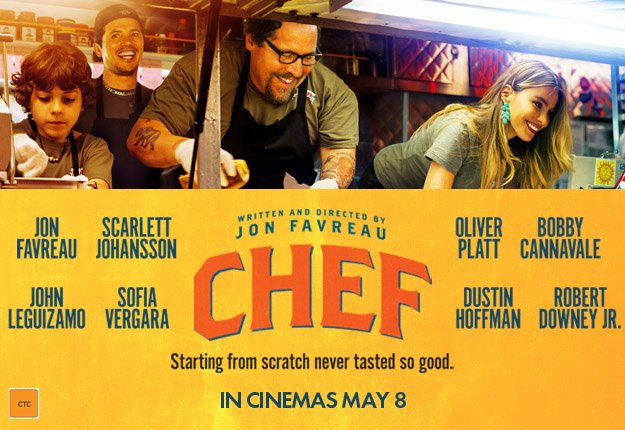 Win 1 of 15 in-season double movie passes to CHEF!