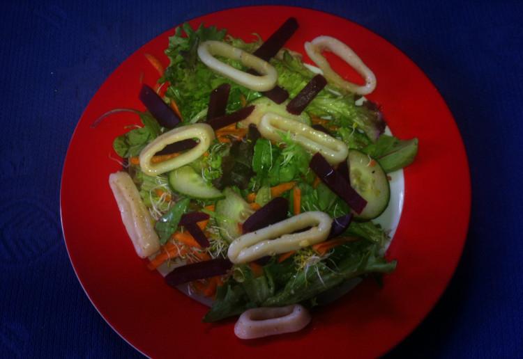 Garlic Buttered Squid Salad