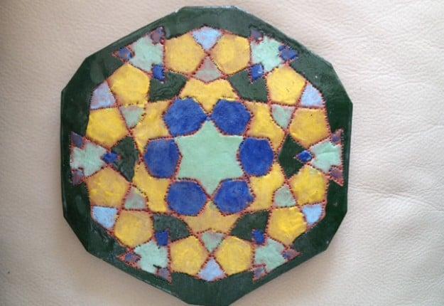 mosaic pot stand