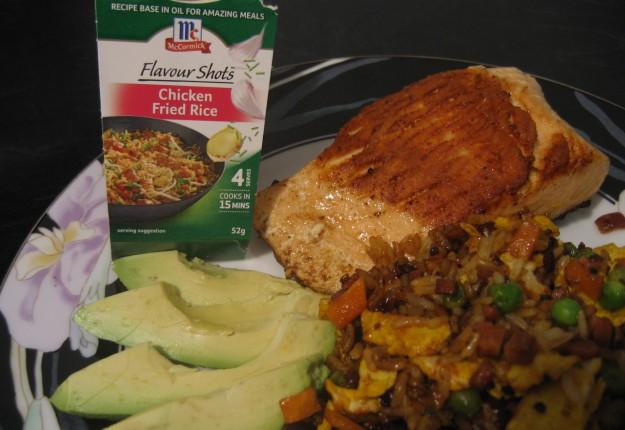 Atlantic Salmon and Fried Rice