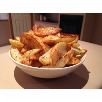 Potato Wedges with Rosemary & Cracked Black Pepper