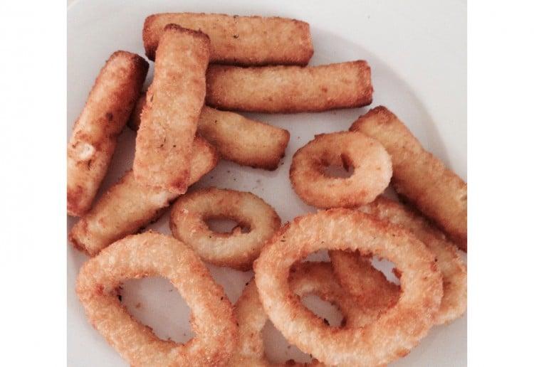 Easy fish fingers and calamari rings