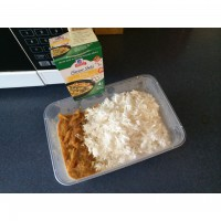 Chicken curry using McCormick flavor shot