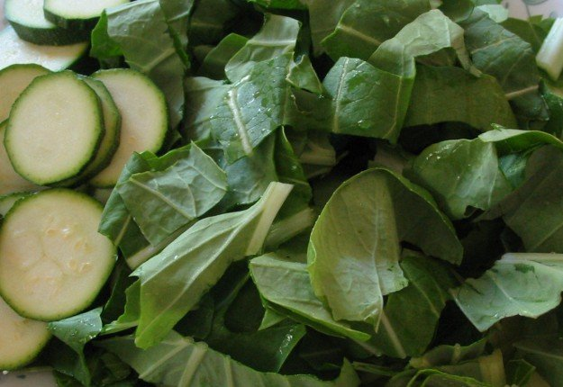 Zuchinni and Pak Choy – Simple!