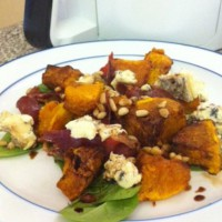 Roast Pumpkin and Blue Cheese Salad