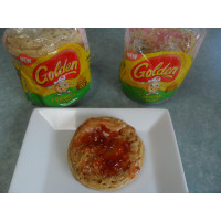 Peanut Butter and Jam on Golden® Crumpets with Oats