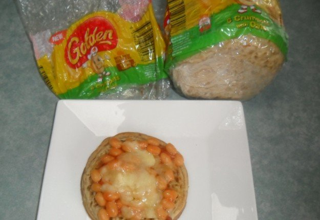 Baked Beans on Golden Crumpet With Oats